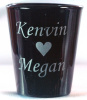 Romance Design customized Shot Glass Engraved