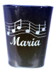 Music Notes Personalized Shot Glass customized with Name