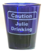 Caution Design Personalized Shot Glass engraved Name