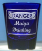 Personalized Shot Glass Danger