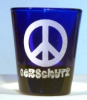 Peace Sign Shot Glass personalized with Name